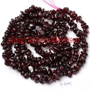 DIY-JEWELRY-MAKING-3-6MM-FREEFORM-RED-GARNET-CHIPS-GEMSTONE-BEADS-STRAND-34