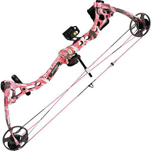 2013-Fred-Bear-Apprentice-2-Youth-Bow-20-50-LB-PINK-CAMO-Complete-PKG-Right-Hand