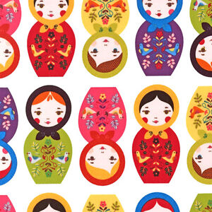 ROBERT-KAUFMAN-LITTLE-KUKLA-MATRYOSHKA-DOLLS-Bright-by-yard