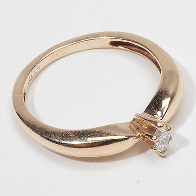 Vintage Estate Diamond 14k Gold Engagement Ring Jewelry on Rummage