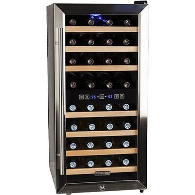 Compact 32 Bottle Stainless Steel Dual Zone ...
