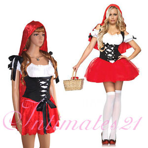 Sexy Adult Little Red Riding Hood Dress Costume Halloween Fancy Party @G5169