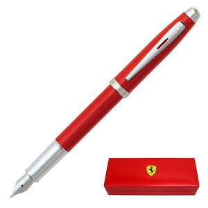 Ferrari 100 by Sheaffer Fountain Pen, Ferrari Red, Medium Nib
