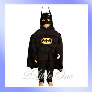 Batman-Muscle-Hero-Kid-Boy-Fancy-Party-Costume-Sz-6-7