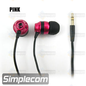 Skullcandy INK'D Earphones Earbuds Headphones for Apple iPod iPhone Pink