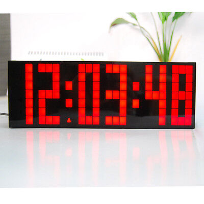 Digital Large Wall LED Alarm Clock Countdown Timer 12/24Hour Display Date Snooze
