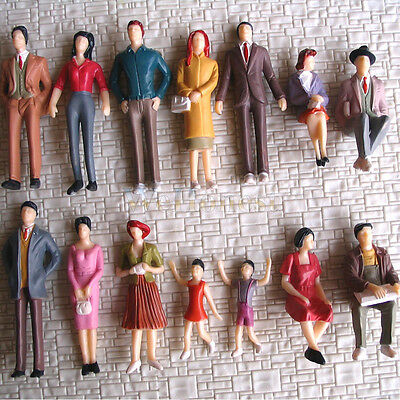 28 pcs G Scale 1:32 Painted Figures People passenger #F