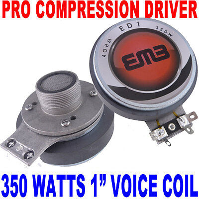 "1"" Voice Coil 350 Watts High Power Tweeter Compression Horn Driver 1-3/8"" USA  on Rummage"