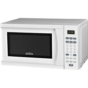 Countertop Microwave No Turntable : ... -Digital-Microwave-Oven-White-Compact-Countertop-Cooker-w-Turntable