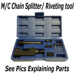 Motorcycle Chain Splitter Riveting Tool Heavy Duty Large  Sports Bikes O-ring