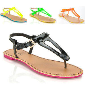 Women Shoes V Strap Gladiator Thong Flat Sandals Black #1: $ KGrHqZ oIE9c9 2CLcBPpfD HLO 60 35 JPG