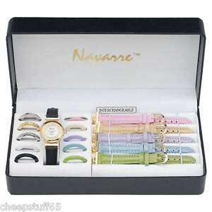 Ladies-Watch-w-Interchangeable-Bands-Faces-66-styles-1-Gift-Boxed-Set