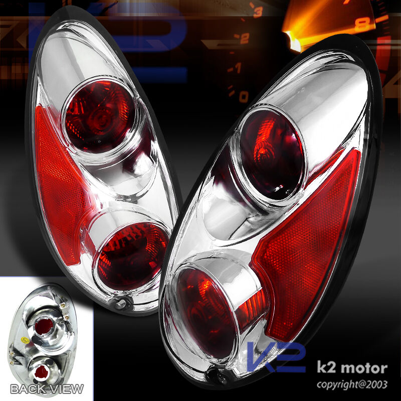 01 05 Chrysler PT Cruiser Chrome Tail Lights Rear Lamps