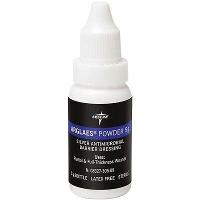 Medline Arglaes Powder Silver Antimicrobial Barrier Dressing  5G Bottle  Msc9205