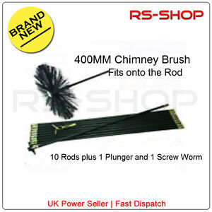 16-400MM-Chimney-Flue-Sweep-Brush-9M-Drain-Rod-Set-Screw-Worm-and-Plunger