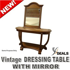 ANTIQUE DRESSING TABLE + Mirror Brand New