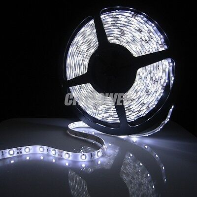 Waterproof White LED Strip 3528 SMD 300LED 5M Flexible Lamp Light 12V 2A 60LED/M on Rummage
