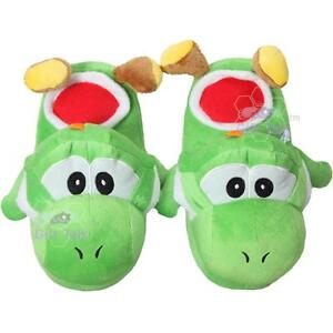 NEW-Nintendo-Super-Mario-Bros-Cute-Yoshi-Kids-Plush-Slipper-Slippers-Home-Shoes