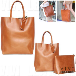 LEATHER-Vintage-Womens-Celebrity-Handbag-Shopper-CABAS-Shoulder-Large-Tote-Bag
