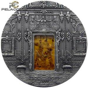 Palau 2009 10$ Mineral Art - Amber Chamber 2oz Silver - Ostrowiec Swietokrzyski, Polska - Palau 2009 10$ Mineral Art - Amber Chamber 2oz Silver - Ostrowiec Swietokrzyski, Polska