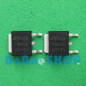 6pcs-78M06-MC78M06-LM78M06-Voltage-Regulators-0-5A-6V-SMD-D-PAK-ST-Brand-New
