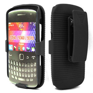 BLACKBERRY CURVE 9350/9360/9370 HARD CASE + BELT CLIP HOLSTER  COMBO ~ NEW