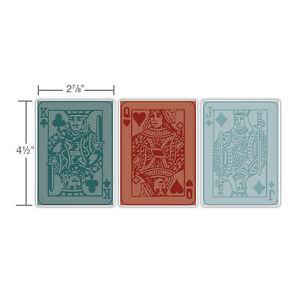 Sizzix TIM HOLTZ Textured Fades 3PK POKER FACE SET -$12