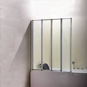 1 2 3 4 5 Folds Folding Chrome Bath Shower Screen Bathroom