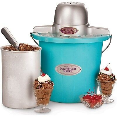 Nostalgia Electrics ICMP400BLUE Ice Cream Maker Ice Cream Makers