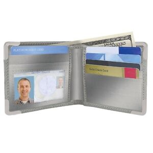 New Smooth Stainless Steel Wallet RFID Blocking Credit Card Holder