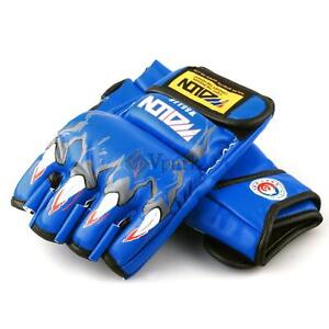 PU Leather Boxing Gloves Grappling MMA Training Punching Sparring Gloves Mitts