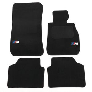 BMW 3 Series E90 2005-on Premium Car Mats in Black with M Sport logos