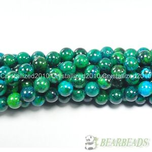 Chrysocolla-Gemstone-Round-Loose-Spacer-Beads-16-Stramd-4mm-6mm-8mm-10mm-12mm