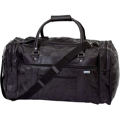Genuine Leather 21 Carry On Duffle Bag, Italian Overnight Luggage Suitcase Tote