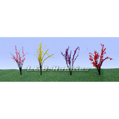 jtt scenery products flower bushes red pink yellow purple 1 1.5 48 95502 Toys