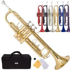 Mendini Bb Beginner Trumpet in Gold Silver Black Blue Purple Red +Care Kit+Case