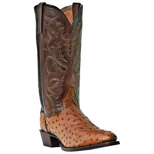 dan post genuine ostrich s western cowboy boots cognac