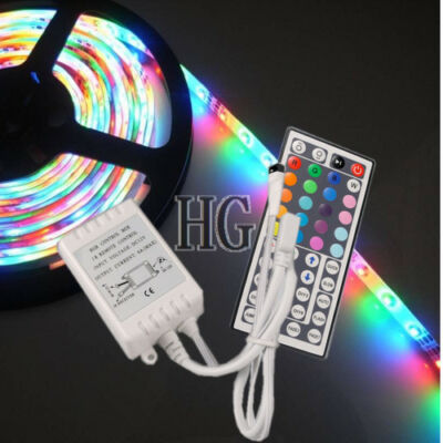 3528 SMD 5M 300 LEDs RGB Waterproof LED Light Strip + 44Key IR Remote Controller on Rummage