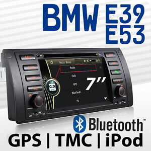 BMW E39 E53 5er X5 AUTORADIO DVD Navigation E39mf NAVI GPS TMC USB 800MHz Player