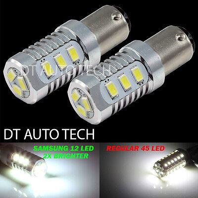 2X 380 Lumen 1157 High Power LED White Turn Signal Brake Tail Stop Light Bulbs