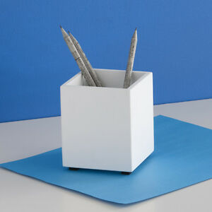Design Ideas Simple Structure Pencil Cup White Pen Holder Cup Desk Organizer