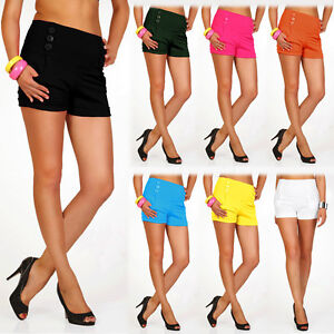 New-Womens-Elegant-Stretchy-High-Waist-Shorts-Girls-Sexy-Leggings-UK-Size-6-16