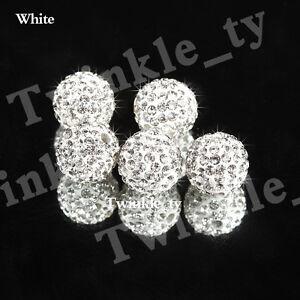 10X Shamballa Beads Quality Clay Crystal Disco Balls Make Shamballa Bracelects