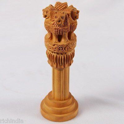 ashoka sthamb  gift home Decor india wooden handicraft sculptue Royal King Indi
