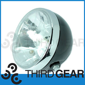 Universal-Motorcycle-7-Chrome-Metal-Headlight-Triumph-Bonneville-Cafe-Racer