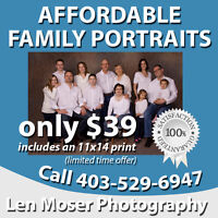 Medicine Hat Affordable Family Portraits - 403-529-6947