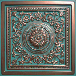 DROP-IN-or-GLUE-ON-UNIVERSAL-24-X24-PVC-Ceiling-Tile-MAJESTY-Copper-Patina