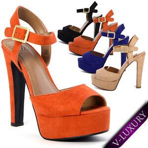 Women-High-Heel-Party-Shoe-Sandal-Platform-Pump-Slingback-Open-Toe-Ankle-T-Strap