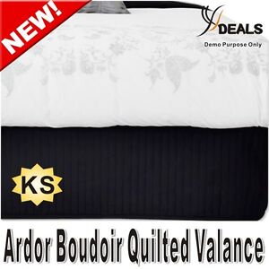 Ardor Boudoir KING Single Bed Quilted Valance - BLACK