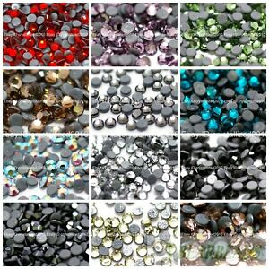 1440Pcs-Top-Quality-Czech-Crystal-Rhinestones-Flatback-Hotfix-Iron-On-Beads-Pick
